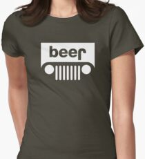 Beer Jeep Womens Fitted T-Shirt