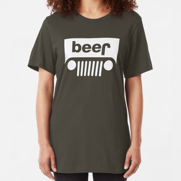 Beer Jeep Slim Fit T-Shirt