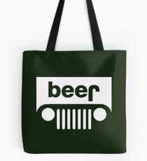 Beer Jeep Tote Bag