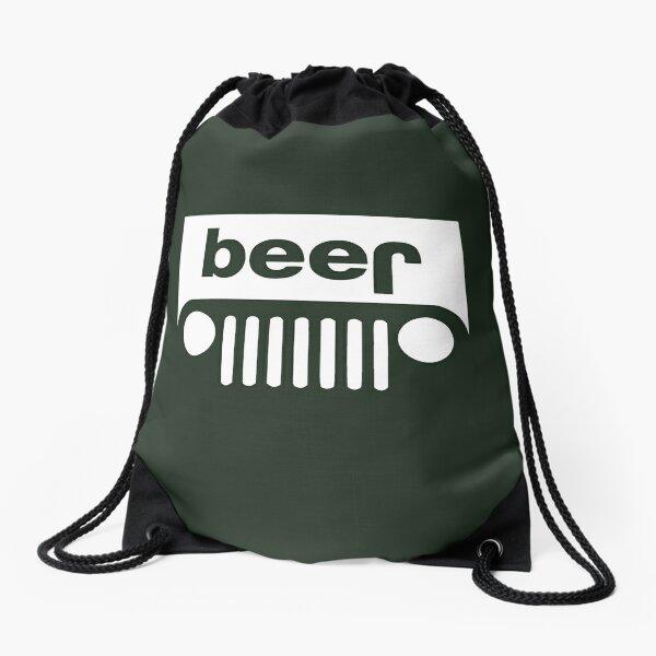 Beer Jeep Drawstring Bag