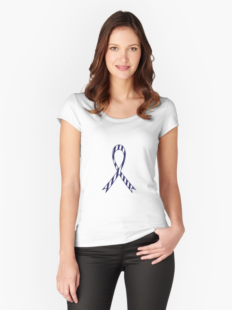 'ALS Lou Gehrig's Disease Awareness Ribbon' Fitted Scoop T-Shirt by  crgraphicdesign