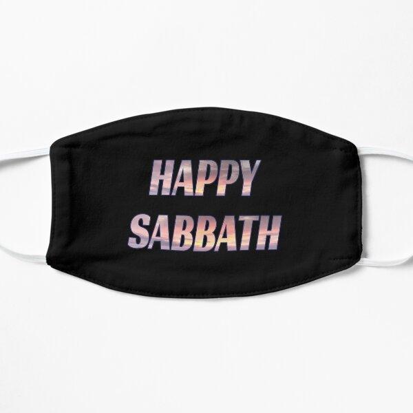 Happy Sabbath Sunset Text Art - Black Flat Mask
