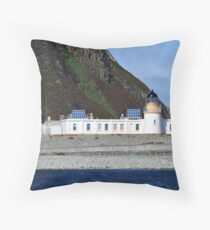 Ailsa Craig Lighthouse Scotland Throw Pillow