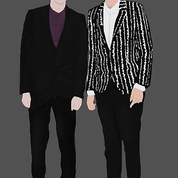 Fancy Dan & Phil Silhouettes by lindsaygreth