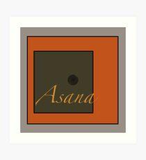 Asana Art Print