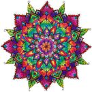Colourful Leafy Mandala by WelshPixie