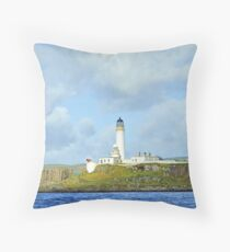 Pladda Isle Lighthouse Scotland Throw Pillow