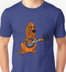 Funky Cool Bloodhound Dog Playing the Banjo Unisex T-Shirt