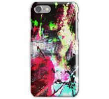Black and Neon Abstract iPhone Case/Skin