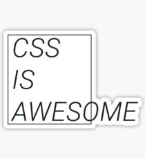 CSS at its best Sticker