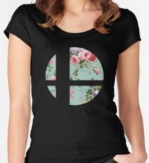 Super Smash Bros. Flora Women's Fitted Scoop T-Shirt