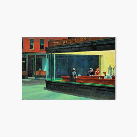 Nighthawks, famous painting by Edward Hopper Art Board Print