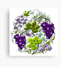 grapes fruit Canvas Print