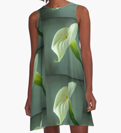 Arum Lily - From the Heart A-Line Dress