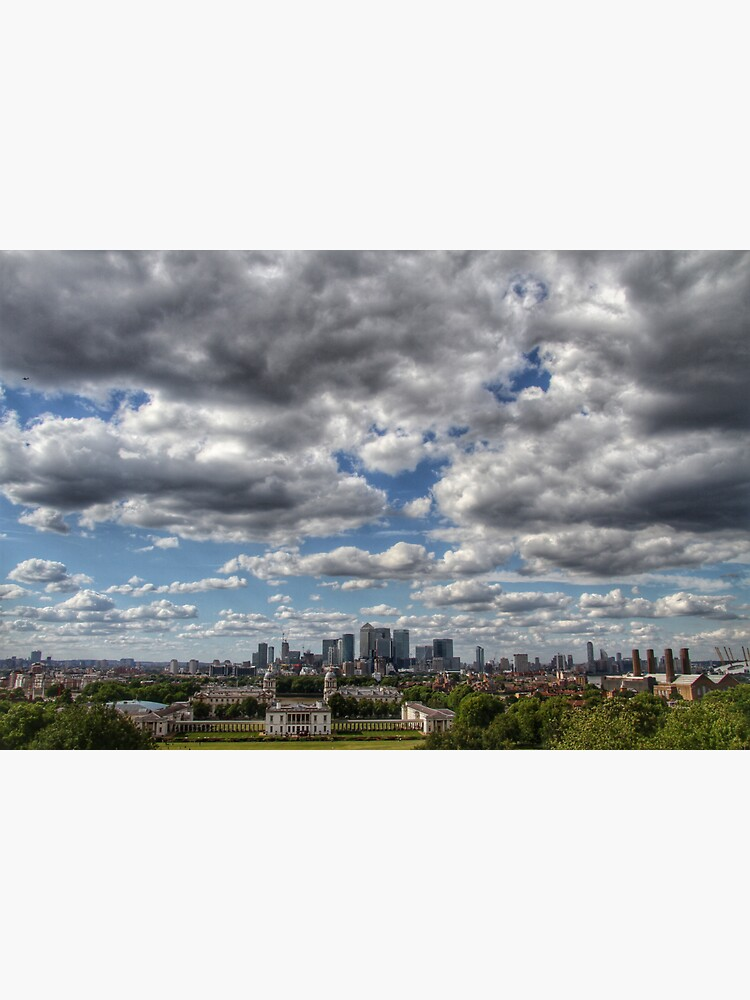 A dramatic skyline view from Greenwich Park by hoxtonboy