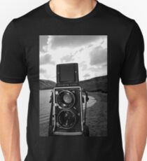 Mamiya C220 on Location. Unisex T-Shirt