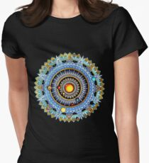 Solar System Mandala Women's Fitted T-Shirt