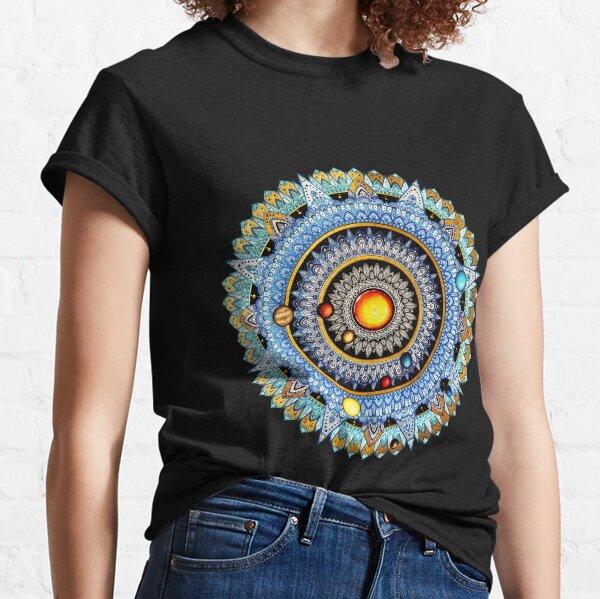 Mandala del sistema solar Camiseta clásica