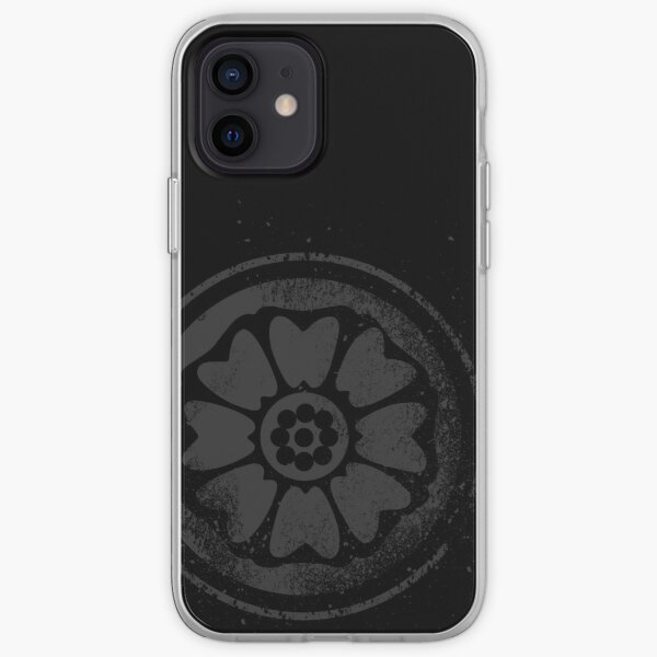 The Order Of The White Lotus symbol (Black) iPhone Soft Case