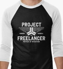 Red vs. Blue  - Project Freelancer Men's Baseball ¾ T-Shirt