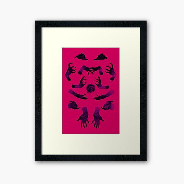 hands & eye red Framed Art Print