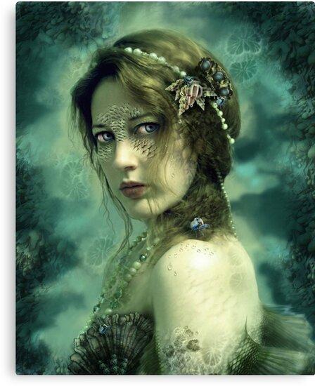 Mermaid Behind Her Mask by gingerkelly
