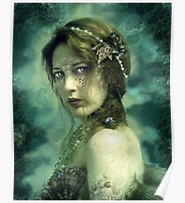 Mermaid Behind Her Mask Poster