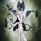 Bat Girl - Moonlighting by Tanya  Mayers