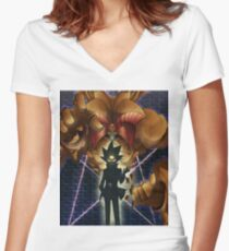 Yugioh Exodia Women's Fitted V-Neck T-Shirt