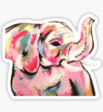 Elephant Painting Sticker