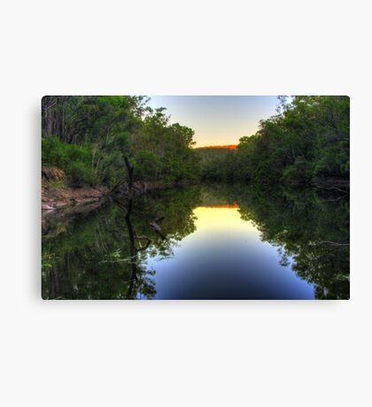 Still water on the Murray River twilight Canvas Print