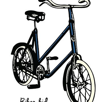 "Vintage 30s blue Bike ""biker kid"" by BrendanGraham"