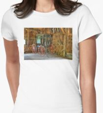 Wagon lost in storage Women's Fitted T-Shirt
