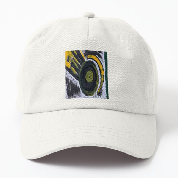 45 RPM Player Vinyl Records Turntable Black Yellow Green White Dad Hat