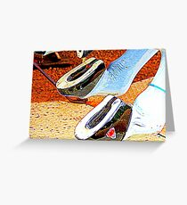Horsey Shoes 4 Good LUCK ! Greeting Card