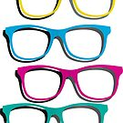 Colourful sunglasses stickers and prints by sledgehammer