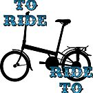 Live to ride, cycling stickers and prints by sledgehammer