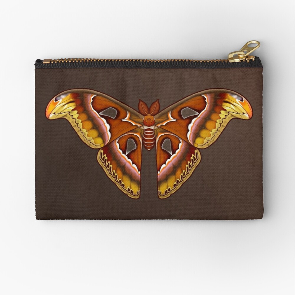 Atlas Moth Zipper Pouch