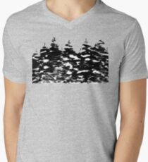 Pines Laden with Snow  Men's V-Neck T-Shirt