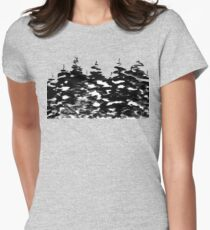 Pines Laden with Snow  Womens Fitted T-Shirt