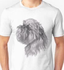 Brussels Griffon Dog Portrait Drawing Unisex T-Shirt