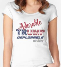 Original Adorable Deplorable | TRUMP SUPPORTER  Fitted Scoop T-Shirt