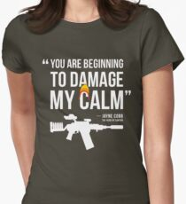 Damaging My Calm Womens Fitted T-Shirt