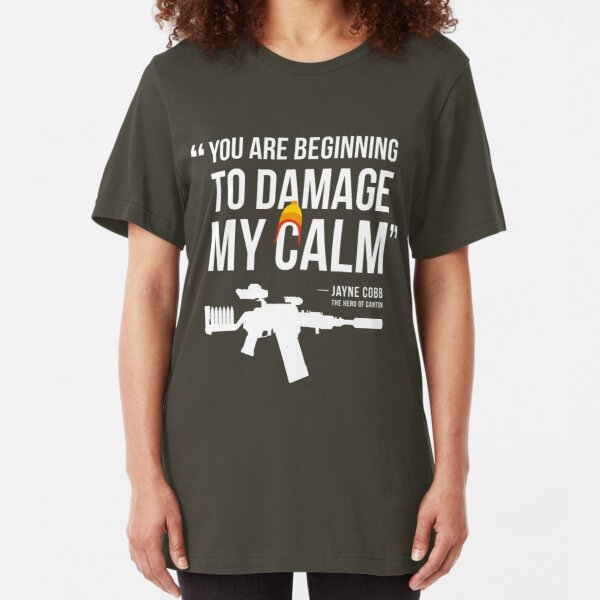 Damaging My Calm Slim Fit T-Shirt