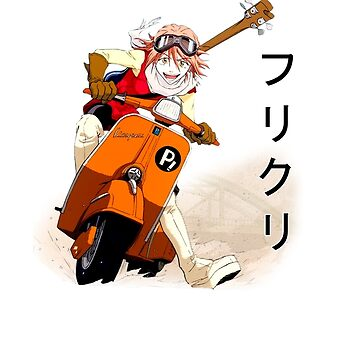FLCL- Haruko on Vespa by r-fLowers