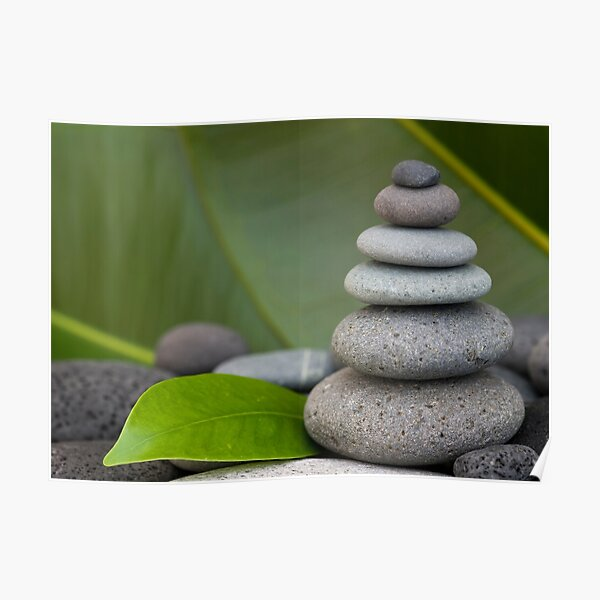 Stone cairn Poster