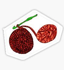 Crochet Circle in Progress with Yarn Ball Sticker