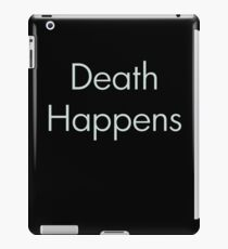 Death Happens iPad Case/Skin