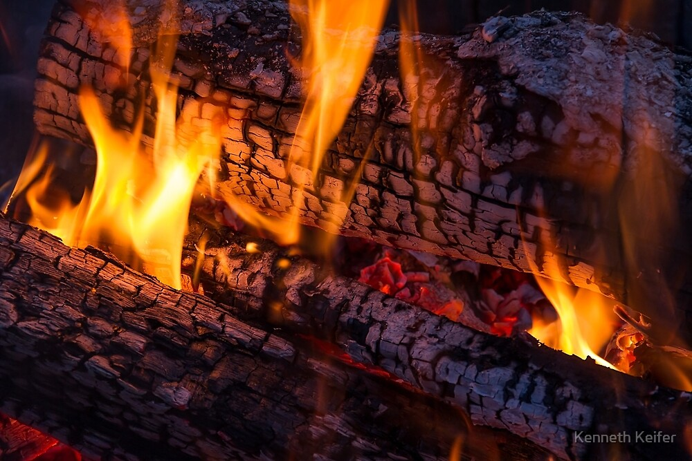 Wood Fire by Kenneth Keifer