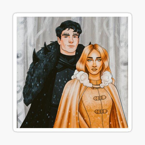Commander Rip and Auren (The Plated Prisoner Series)  Sticker